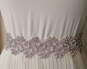 All around beading Bridal belt wedding belt bridal sash wedding sash crystal sash wedding dress jeweled belt rhinestone sash rhinestone belt