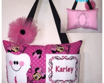 Tooth Fairy Pillow Pink Minnie Mouse Toothfairy Pillow