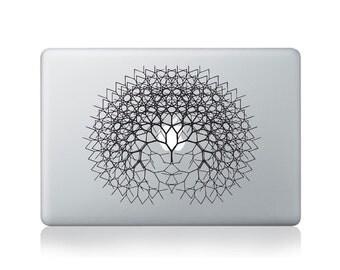 Fractal Tree Vinyl Sticker for Macbook (13/15)