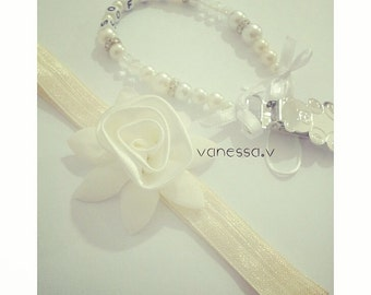 Custom baby pacifier holder ch + wrapper