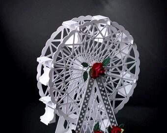 3D SVG PDF  Ferris wheel Digital download