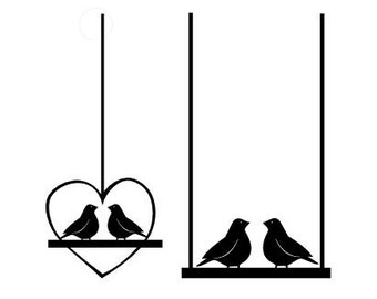 SVG Birds on a swing DIGITAL download
