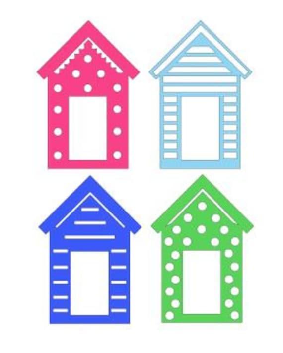 SVG PDF set of 4 Beach hut designs DIGITAL download from ...