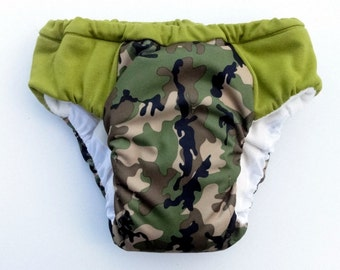 Boys potty training pants with hidden waterproof layer. Eco friendly reusable overnight pull ups, Jungle print, waterproof training pants