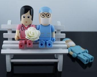 Doctor and Nurse shape USB flash drive