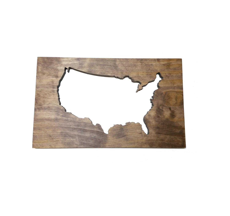 Wood map usa wall art modern home decor by timberartsigns for Home decor usa