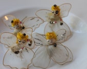 1950s Lot of 4 Nylon Wire Christmas Angels: Made in Japan