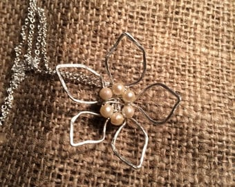 Fine Silver (Simple Flower) Pendant