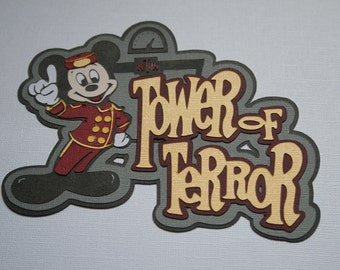 Disney - Tower of Terror - Die Cut Paper Pieced Title for Scrapbook Pages