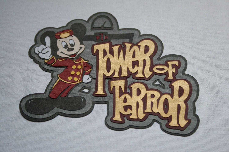 Disney scrapbook ideas - Disney Tower Of Terror Die Cut Paper Pieced Title For Scrapbook Pages