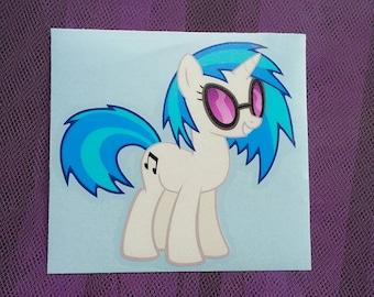 DJ Pon3 - Vinyl Scratch -  MLP FIM for Cars and Laptops Music Dj Pony