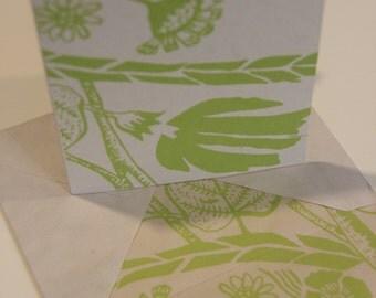Screen Printed Greeting Card and Envelope