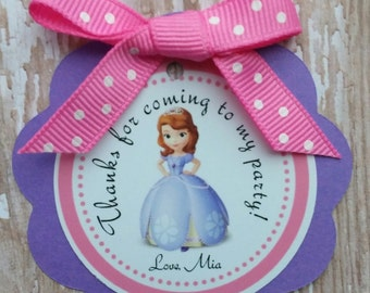 Sofia the first birthday favor tags Sophia the first birthday banner Sofia birthday party Sophia birthday party