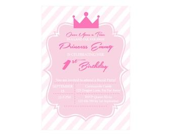Princess Party Printable Invitation