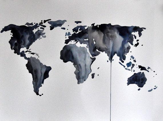 original abstract world map - photo #12