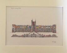 Queen's University Belfast Print