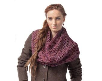 Knit Cowl Loop Scarf Shawl Hood Hand knit