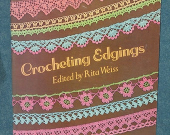 Crocheting Edgings Pattern Book by Rita Weiss Vintage Dover