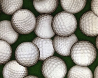 One Fat Quarter of Fabric Material - Golf Balls