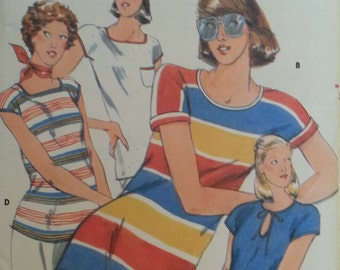 Butterick #5484 - Misses T-Shirt - Size 10, Bust 32.5 - 1973 - Vintage - Sewing Pattern