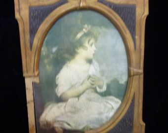 AGE of INNOCENCE Litho Print by Joshua Reynolds in Vintage Frame