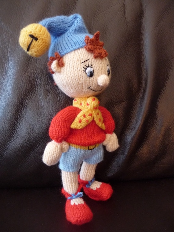 Noddy Doll Knitting Pattern : Noddy toy. 100% handmade knitted Noddy doll. Custom order for