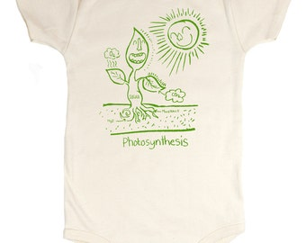 Photosynthesis Babysuit (Organic) Biology Baby Clothes Ecology Plants Green Learning Science Garden