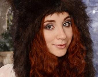 "Hat ""Brown Bear"" mod. C, faux fur."