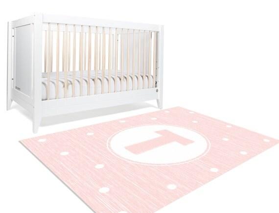 monogram girl monogram rug monogram nursery pink by. Black Bedroom Furniture Sets. Home Design Ideas