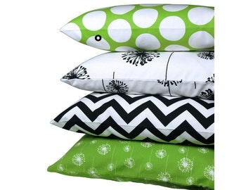 1 pillowcase points DANDIE green-and white 50 x 50 cm