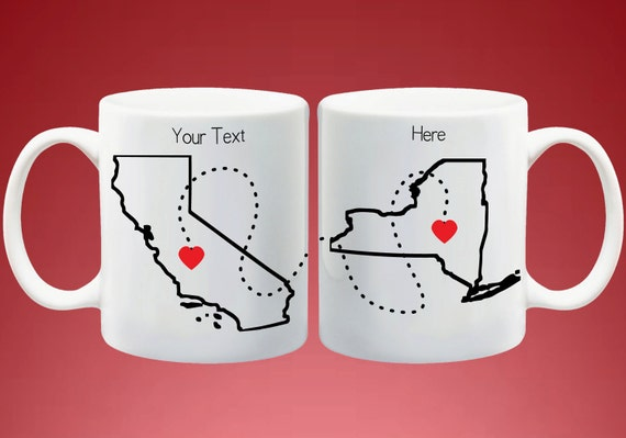 State or country long distance mugs going away gift by for Going away gifts for boyfriend