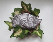 cat brooch animal brooch hand painted cat fabric brooch gift idea for crazy cat lady cats lovers