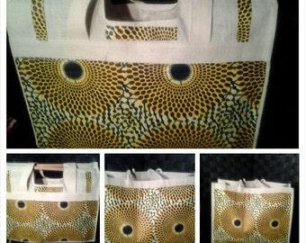 ANKARA LARGE TOTE Bag Woman Overnight Bag/