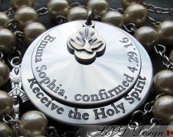 Baptism Gift for Godparents. Catholic Jewelry. Personalized. Catholic Rosary. Boy Baptism Gift. Girl. Christening. Confirmation. Custom. AG