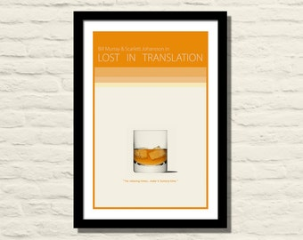 Lost in Translation Movie Poster Art Print 11x17, Bill Murray , Scarlett Johansson , Modern Poster, Home Decor