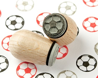 Football - mini stamp Ø 1,4 cm