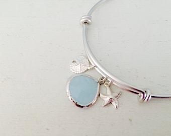 alice blue bangle silver starfish bangle sand dollar alice blue jewelry bridesmaid bangles beach wedding jewelry starfish jewelry swarovski