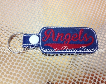 Angels - In The Hoop - Snap/Rivet Key Fob - DIGITAL EMBROIDERY DESIGN