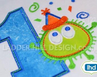Ooga Booga First Birthday -- First Birthday Applique Embroidery Design OBBI007