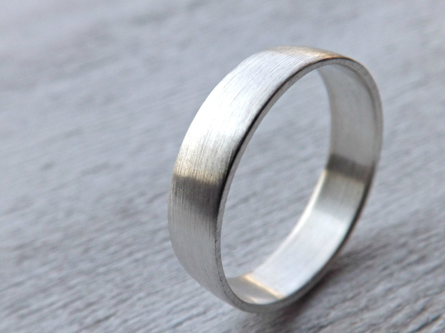 mens ring personalized silver wedding band silver by
