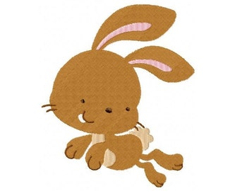 Embroidery Design Jumping Rabbit 4'x4' - DIGITAL DOWNLOAD PRODUCT