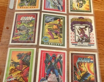 1 sleeve of 9, GI Joe trading cards, dated 1991.  You will get the cards, just as shown. collector cards, GI Joe cards, 1991 GI Joe cards