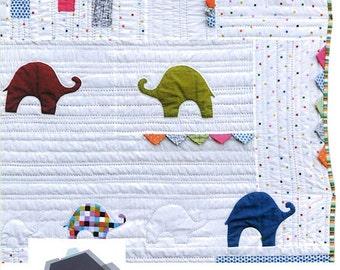 What Colour Is An Elephant? Quilt Pattern - Jen Kingwell - Jen Kingwell Designs - JKD 5132