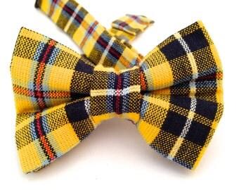Plaid bow ties, yellow plaid bow tie, black plaid bow tie, black bow tie, yellow bow tie, yellow plaid necktie, plaid bow tie