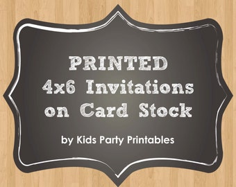 "Custom PRINTED Invitations on 4x6"" Card Stock & Envelopes - any Invite Design in my Shop - Printing Service by Kids Party Printables"