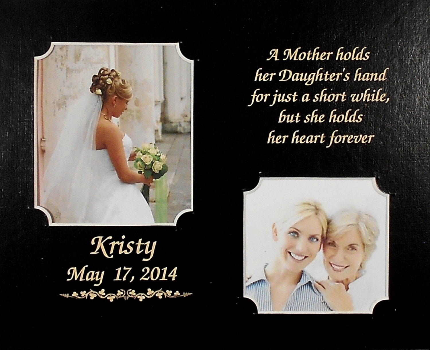 A Gift From A Mother To Her Daughter On Her Wedding Day : 8x10 MAT WEDDING GIFT A Mother Holds Her Daughters Hand