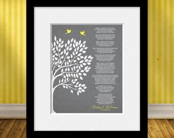 """Jason Mraz, """"I Won't Give Up"""", 1st Anniversary Gift, Wedding Gift, Lyrics to """"I Won't Give Up"""" Print"""