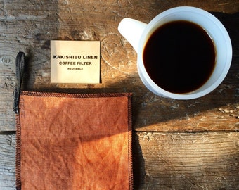 Reusable「Persimmon linen coffee filters」
