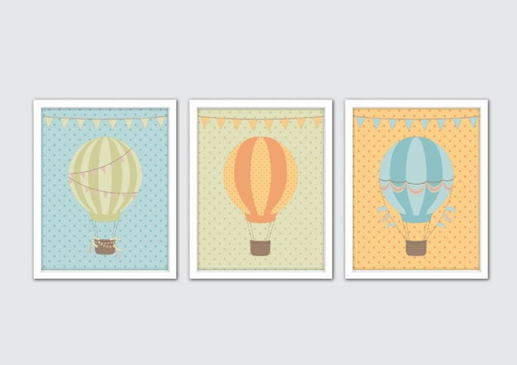 Hot Air Balloon Nursery Art Hot Air Balloon Decorationhot Air