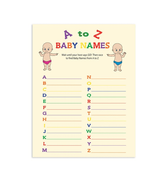 Snap A To Z Baby Game Etsy Photos On Pinterest
